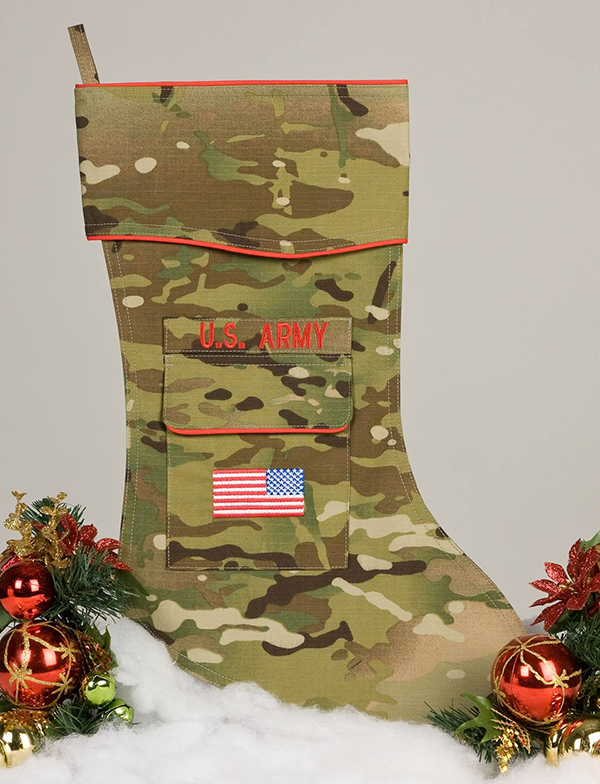 camosock has got the perfect way to show your patriotism and support of the military this christmas the multicam stocking is made from authentic duro - Camo Christmas Stocking