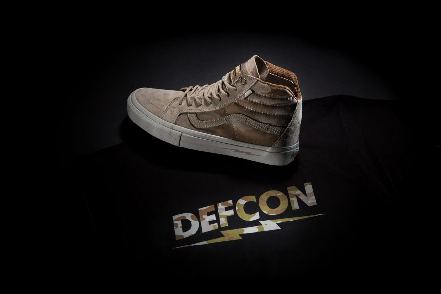 DEFCON x Vans Multicam Arid Shoe With Tee Black Back-2