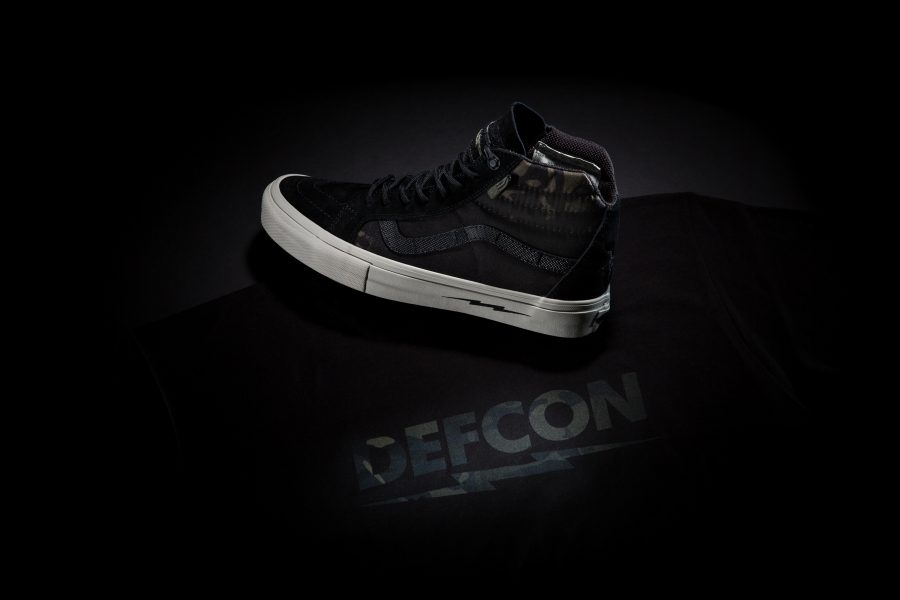 DEFCON x Vans Multicam Black Shoe With Tee Black Back-3