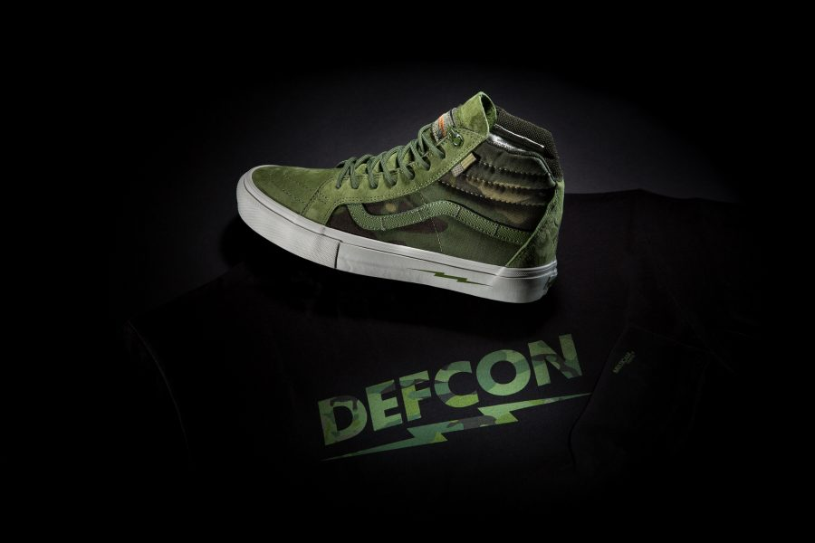 b58495a2c2 DEFCON x Vans Multicam Tropic Shoe With Tee Black Back-1